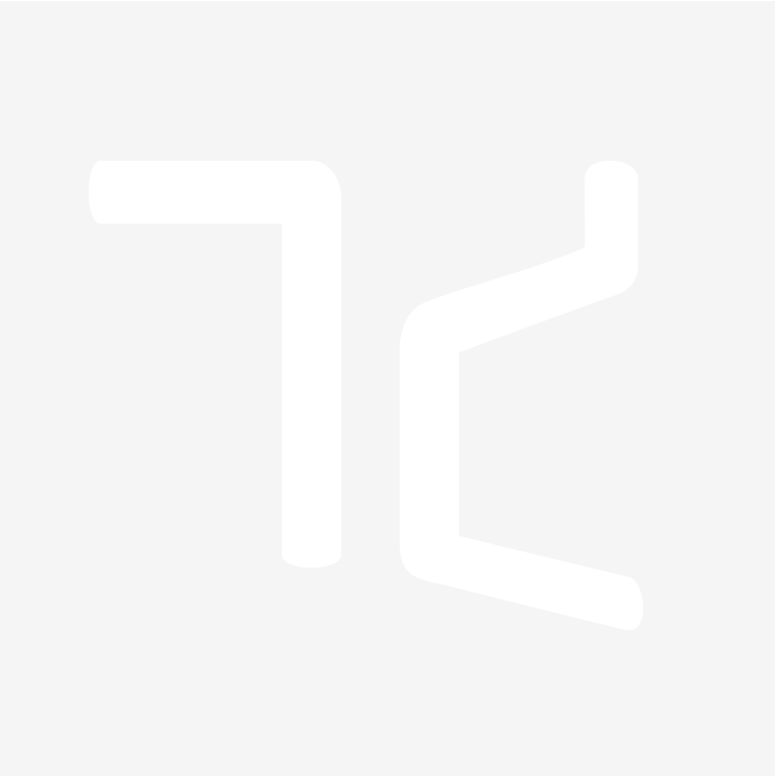 Caspian Pole - Aged Cream, End Cap, Brass End Bracket