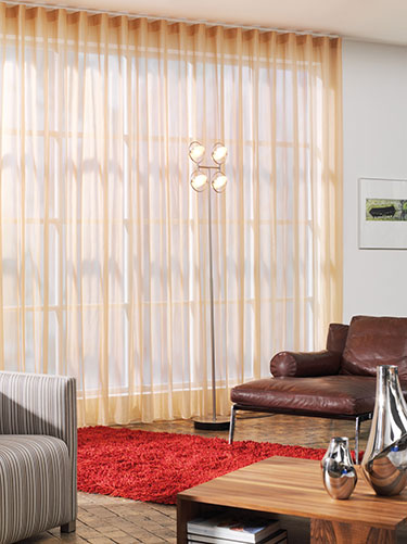 Silent Gliss uncorded track with Wave curtain
